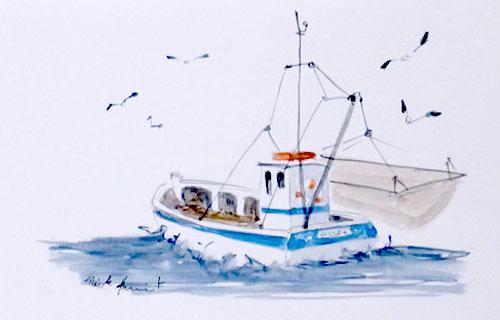 nicole auvinet artiste peintre de chatelaillon plage peinture l 39 huile aquarelle paysage de. Black Bedroom Furniture Sets. Home Design Ideas